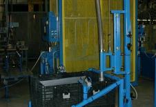 Système de vidange de bac de granulés par vibration