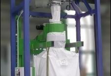 Station de remplissage de big-bag avec cyclofiltre de transport pneumatique