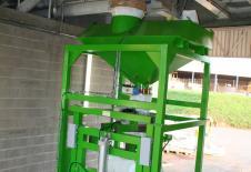 Station de remplissage big-bag avec manche de chargement vrac