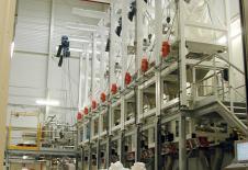 Stations de vidange de big-bag avec palan électrique
