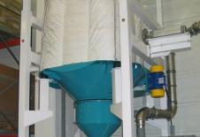 Stations de vidange de big-bag avec tube vibrant